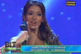Bienvenida la tarde: Shirley Arica fue presentada en el programa - Video