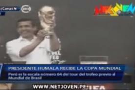 Video: Así recibió Ollanta Humala la Copa del Mundo