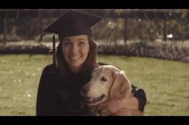 Emotivo comercial muestra la amistad entre una joven y su perro - VIDEO