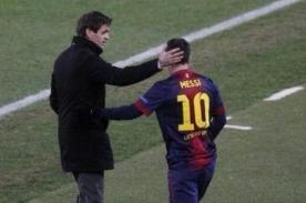 Messi lamenta la muerte de Tito Vilanova a través de Twitter