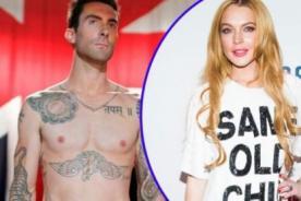 Adam Levine llama a Lindsay Lohan una mentirosa