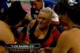 Combate: ¡Yamila Piñero casi se fractura el brazo en dificultoso reto! - VIDEO