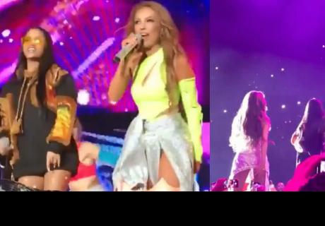Al descubierto! Natti Natasha y Thalía cantan con sus voces reales después que les falla audio en concierto
