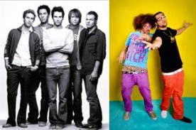 Maroon 5 vs LMFAO ¿Quién será el Dúo o Grupo Top del Billboard 2012?