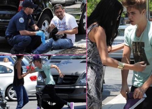 Fotos: Justin Bieber peleó con paparazzi y Selena Gomez intentó calmarlo