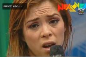 Combate: Sheyla Rojas se negó a desfilar por tener el cabello mojado - Video