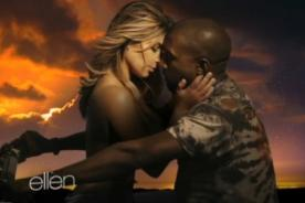 Kim Kardashian aparece en topless en nuevo video de Kanye West - Video