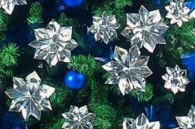 Adornos Navideños: Decora tu árbol de Navidad con flores de papel origami