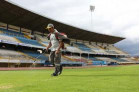 Play Off 2013: Universitario mandó a arreglar césped de estadio de Huancayo