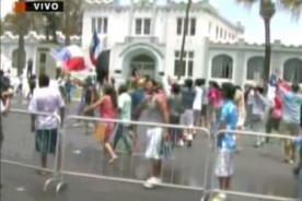 Chilenos generan disturbios en Arica tras fallo de La Haya - VIDEO