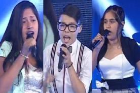 La Voz Kids: Sebastián, Karime y Dulce dan 'Batalla' en escenario - Video