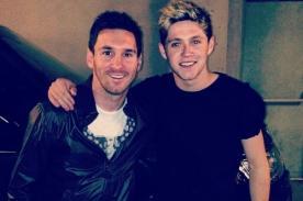 Niall Horan también conoció a Lionel Messi tras partido del Barcelona