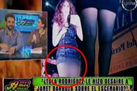 ¿Janet Barboza enseña el calzón con diminuta falda?
