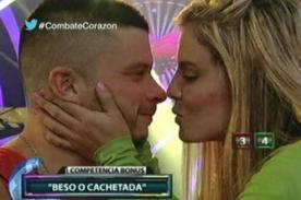 Combate: ¿Alejandra Baigorria besa a Mario Hart en vivo? - Video