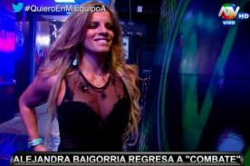 Combate: ¡Alejandra Baigorria sedujo a todo el set con vestido transparente! - VIDEO
