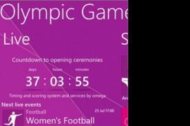 Juegos Olimpicos 2012: Window Phone lanza aplicación para Olimpiadas de Londres
