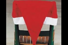 Adornos Navideños: Gorro de Papa Noel para decorar tus sillas