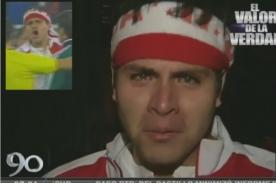 Hincha peruano que se metió a la cancha declara sobre arbitraje - Video