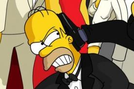 Los Simpson parodian el 'selfie' de Ellen DeGeneres en los Oscar