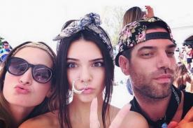 Kendall Jenner usó enorme aro en la nariz en Coachella (Fotos)