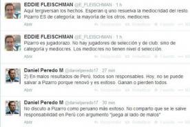 Daniel Peredo y Eddie Fleischman critican duramente a Claudio Pizarro con la selección