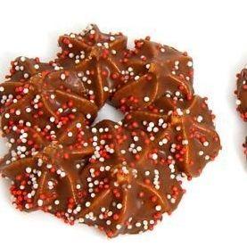 Galletas navideñas cubiertas con chocolate