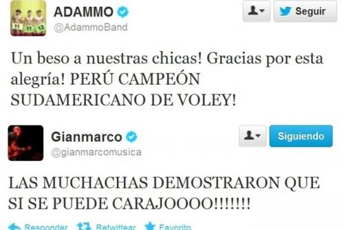 Famosos emocionados tras victoria en el Campeonato Sudamericano de Vóley
