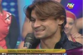 Combate: David Ferrer sorprendió al aparecer en el programa - Video