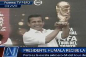 Copa del Mundo llega al Perú y es recibida por Ollanta Humala