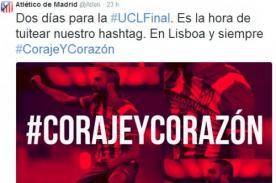Champions League: Atlético Madrid usa hashtag #CorajeYCorazon para la final
