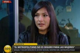Magaly Solier denuncia acoso sexual en el Metropolitano