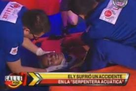 Calle 7 Perú: Elizabeth Márques se desvanece en prueba de piscina [VIDEO]