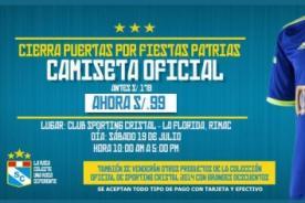 Sporting Cristal 2014: Descuento en camiseta original Adidas Perú por fiestas patrias