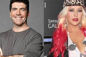 Christina Aguilera insulta y critica duramente a Simon Cowell