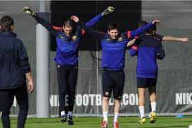 Fútbol Español: Lionel Messi entrenó con sus compañeros del Barcelona