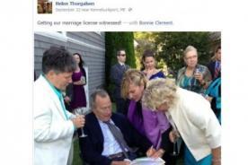 Padre de George Bush es testigo en matrimonio gay