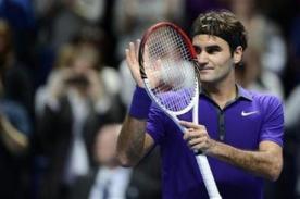 Copa de Maestros en Londres: Roger Federer derrotó a Richard Gasquet