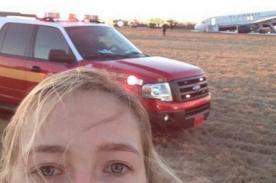 EE.UU.: 'Selfie' con avión accidentado causa polémica en Twitter – FOTO