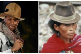 El sombrero de Pharrell Williams fue inspirado en los indígenas del Perú