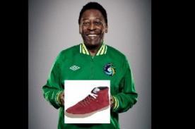 Pelé incursiona con su propia marca de zapatillas
