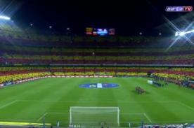 Video: Impresionante recibimiento en el Barcelona vs Real Madrid