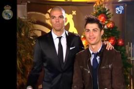 Video: Cristiano Ronaldo y Pepe enviaron saludos por fiestas