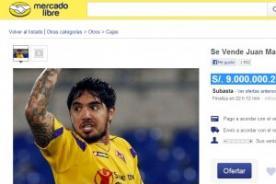 Juan Manuel Vargas es subastado en Mercado Libre
