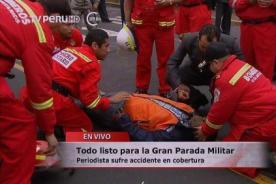 Parada Militar 2013: Camarógrafo sufre terrible caída