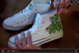 Diseña graffitis para personalizar zapatillas con este video tutorial