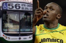 ¡Insólito! Usaín Bolt correrá contra un metrobús en Argentina