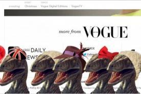 Vogue: Los dinosaurios invaden página web de moda - FOTO