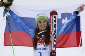 Sochi 2014: Tina Maze logró su segunda medalla de oro en los juegos olímpicos