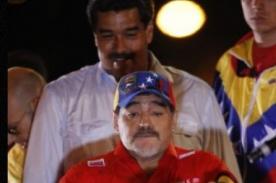 Maradona reitera apoyo al mandatario Nicolás Maduro - Video
