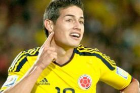 Así celebra James Rodríguez ser el goleador del Mundial 2014
